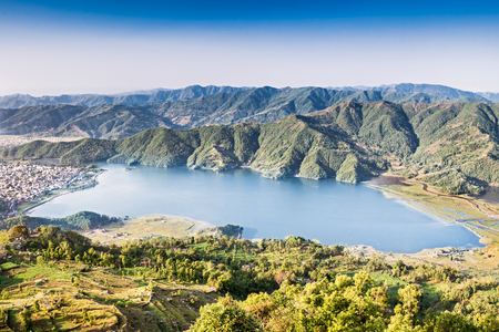 phewa: Panoramic view to Phewa Lake from Sarangkot