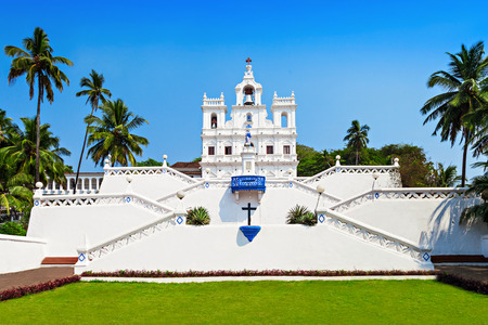Our Lady of the Immaculate Conception Church, Goa Banco de Imagens