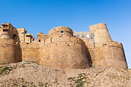 jaisalmer: Fort in Jaisalmer, India. Jaisalmer the golden city stands on a ridge of yellowish sandstone.