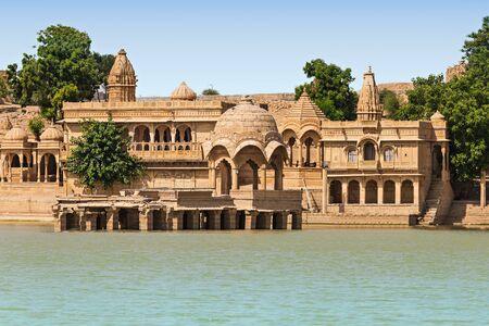jaisalmer: Gadsisar (Gadisagar) lake in Jaisalmer, Rajasthan, India