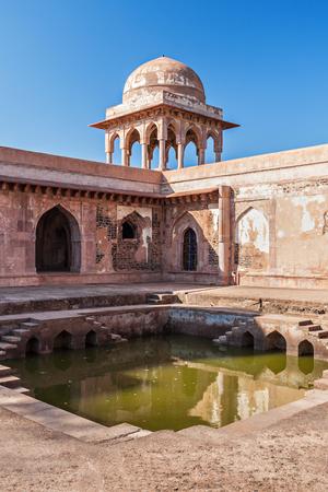 madhya: Baz Bahadur Palace in Mandu, Madhya Pradesh, India