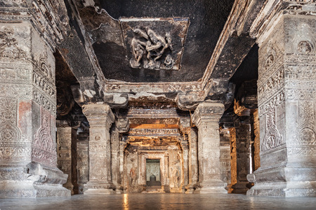 maharashtra: Ellora caves near Aurangabad, Maharashtra state in India Editorial