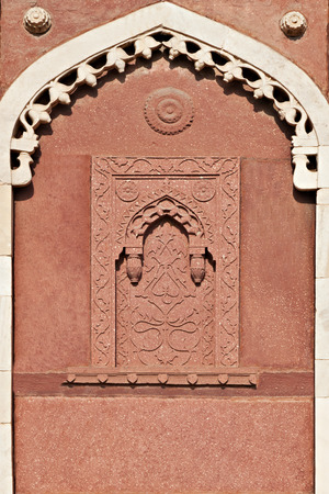 mughal architecture: Alcove - Islamic or Mughal Architecture, Agra Fort, India