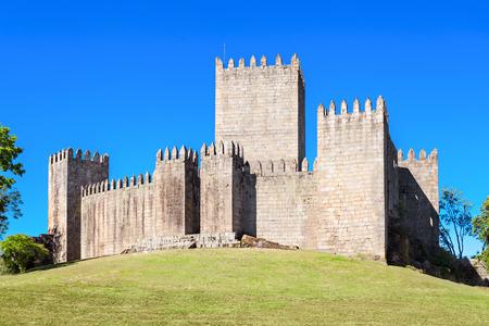 guimaraes: The Castle of Guimaraes is the principal medieval castle in the municipality Guimaraes, Portugal