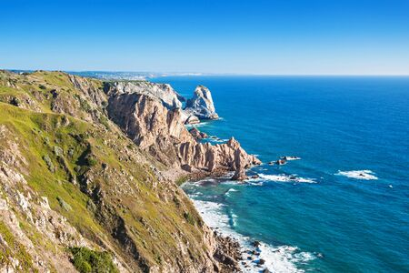extent: Cabo da Roca (Cape Roca) is a cape which forms the westernmost extent of mainland Portugal and continental Europe