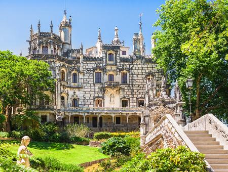 quinta: The Regaleira Palace (Quinta da Regaleira), Sintra, Portugal Editorial