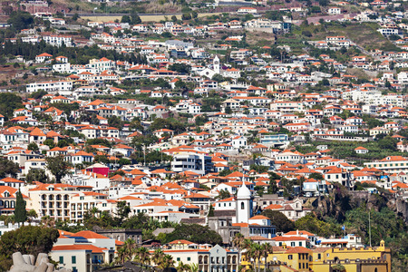 viewpoint: Funchal aerial view from Barcelos viewpoint, Madeira island, Portugal