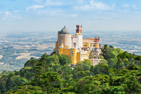 the pena national palace: The Pena National Palace is a Romanticist palace in Sao Pedro de Penaferrim, Sintra, Portugal Editorial