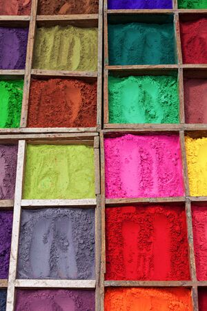 Indian color powder as a beauty background Stock Photo