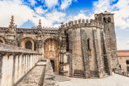 convent: The Convent of the Order of Christ is a religious building and Roman Catholic building in Tomar, Portugal Editorial