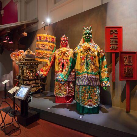 SINGAPORE - OCTOBER 15, 2014: Asian Civilisations Museum interior.