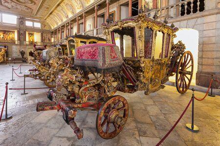june 25: LISBON, PORTUGAL - JUNE 25: National Coach Museum (Museu dos Coches) on June 25, 2014 in Lisbon, Portugal Editorial