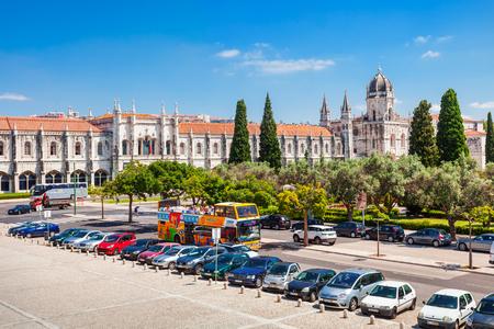 june 25: LISBON, PORTUGAL - JUNE 25: The Jeronimos Monastery or Hieronymites Monastery on June 25, 2014 in Lisbon, Portugal