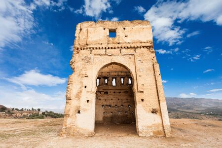 tumbas: The Marinid Tombs or Merenid Tombs are a few giant tombs in Fes. Marinid Tombs is located on the hill above Fes, Morocco.