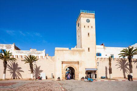 medina: Medina entrance tower and old city walls in Essaouira, Morocco Editorial