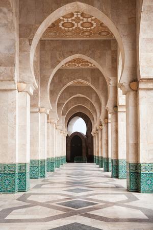 Les éléments de conception de la Mosquée Hassan II à Casablanca, Maroc. Mosquée Hassan II est le 7-ème plus grande mosquée du monde. Banque d'images - 63326213
