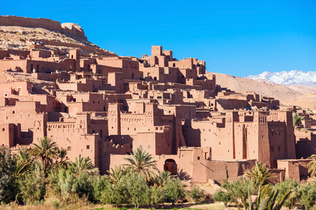 Ait Ben Haddou (or Ait Benhaddou) is a fortified city along the former caravan route between the Sahara and Marrakech in Morocco