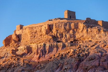 Ait Benhaddou in Morocco at sunset. Ait Benhaddou is a one of the most popular tourist destination in Morocco.