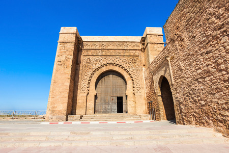 The Kasbah of the Udayas entrance gate in Rabat in Morocco. The Kasbah of the Udayas is located at the Bou Regreg river in Rabat, Morocco. Rabat is the capital of Morocco. Editorial