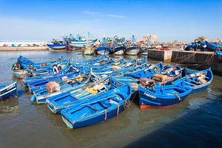 skala: ESSAOUIRA, MOROCCO - FEBRUARY 20, 2016: Boats docked in the Skala du Port in Essaouira, Morocco. Editorial