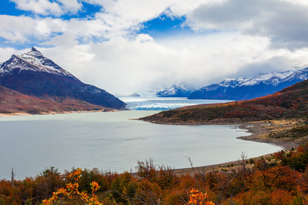 calafate: The Perito Moreno Glacier is a glacier located in the Los Glaciares National Park in Santa Cruz Province, Argentina. Its one of the most important tourist attractions in the Argentinian Patagonia. Stock Photo