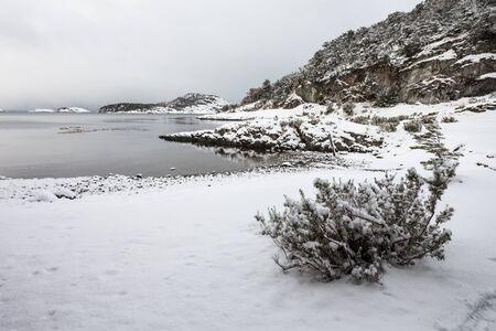 Tierra del Fuego National Park in winter. Tierra del Fuego is a national park on the Argentine part of the island of Tierra del Fuego near the Ushuaia in Argentina. Stock Photo
