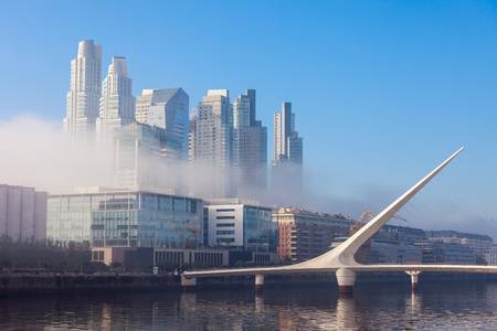 mujer: Puente de la Mujer (Womens Bridge), is a rotating footbridge for Dock 3 of the Puerto Madero district of Buenos Aires, Argentina