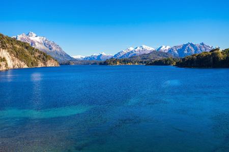 mount tronador: Nahuel Huapi Lake near Bariloche, Patagonia region in Argentina.