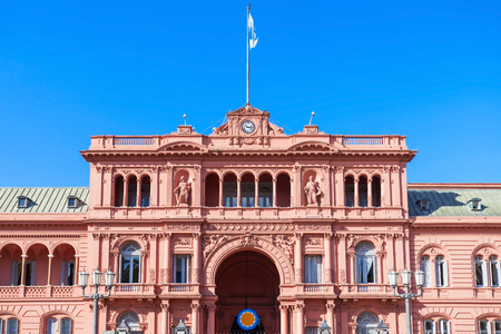 peron: La Casa Rosada or The Pink House is the executive mansion and office of the President of Argentina, located in Buenos Aires, Argentina