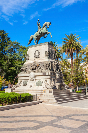 jose de san martin: General Jose de San Martin monument on Plaza San Martin square in Cordoba, Argentina. Jose de San Martin is a hero of the Argentine War of Independence. Editorial