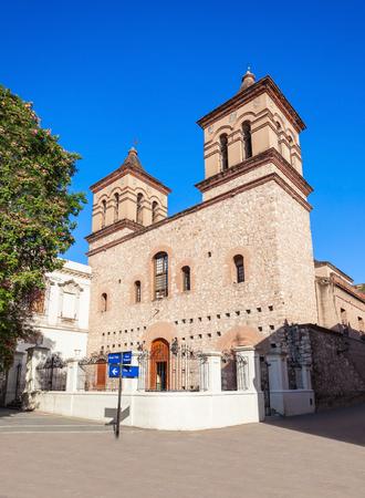 Jesuit Church of the Society of Jesus (Manzana Jesuitica Iglesia de la Compania de Jesus) is a church in Cordoba in Argentina Stock Photo
