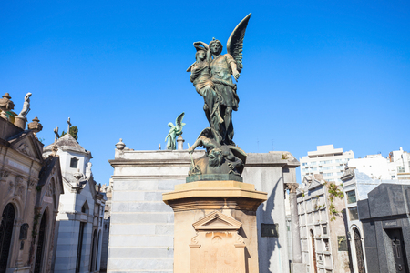 La Recoleta Cemetery (Cementerio de la Recoleta) is a cemetery located in the Recoleta neighbourhood of Buenos Aires, Argentina Editorial