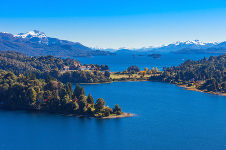 nahuel: Lake in Nahuel Huapi National Park. It is located near the Bariloche city, Patagonia region in Argentina. Stock Photo
