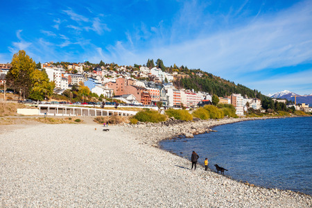 Bariloche seafront and Nahuel Huapi Lake in Patagonia region of Argentina
