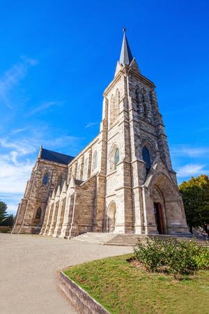 bariloche: Cathedral of San Carlos de Bariloche in the centre of Bariloche, Patagonia region in Argentina.
