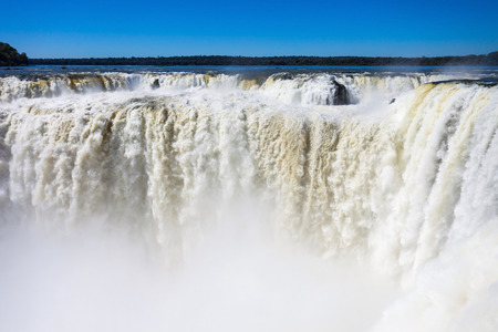 diablo: Devils Throat (Garganta del Diablo) is the biggest of the Iguazu Waterfalls. Located on the Iguazu River on the border of the Argentina and the Brazil.