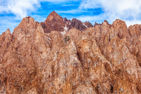 Mountain near Los Penitentes ski resort near Mendoza in Argentina Stock Photo
