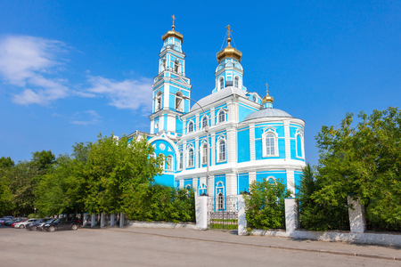 Church of the Ascension of Christ is a Russian Orthodox church in Yekaterinburg. Stock Photo
