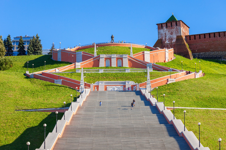 Chkalov ladder (also Volzhskaya staircase) is a staircase in Nizhny Novgorod, which connects the Upper Volga and the Lower Volga embankment, Russia.