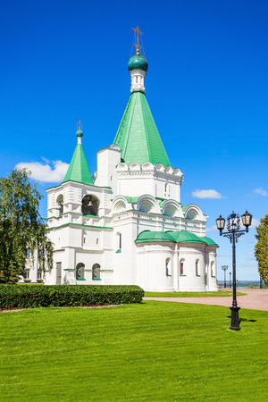 bastion: Michael the Archangel Cathedral in the Nizhny Novgorod Kremlin. Stock Photo