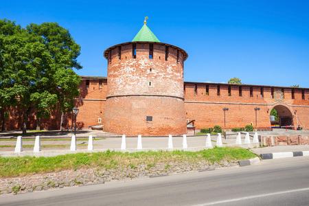 Kladovaya Pantry Tower of Nizhny Novgorod Kremlin. Kremlin is a fortress in the historic city center of Nizhny Novgorod in Russia. Editorial