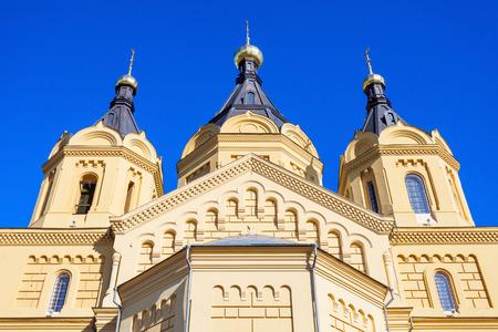 Cathedral of St. Alexander Nevskiy is orthodox church in Nizhny Novgorod, Russia Stock Photo