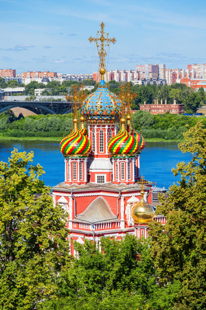 nizhni novgorod: Cathedral Church of the Holy Blessed Virgin Mary in Nizhny Novgorod. Nizhny Novgorod is the fifth largest city in Russia. Stock Photo