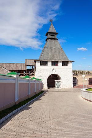 The Transfiguration tower of the Kazan Kremlin. The Kazan Kremlin is the chief historic citadel of Tatarstan, situated in the city of Kazan.