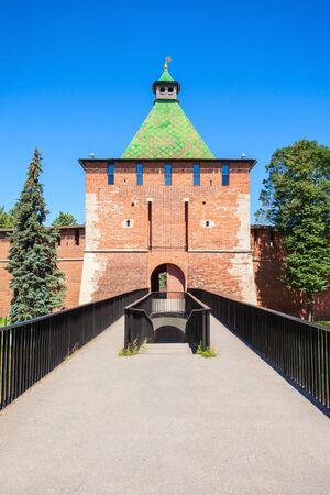 Tower of Nicholas (or Nikolskaya Tower) of Nizhny Novgorod Kremlin. Kremlin is a fortress in the historic city center of Nizhny Novgorod in Russia. Editorial