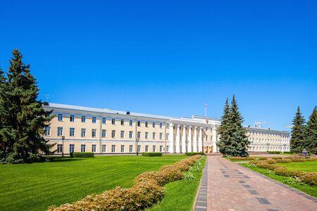 Legislative Assembly House of Nizhny Novgorod Region in the Nizhny Novgorod Kremlin. Kremlin is a fortress in the historic city center of Nizhny Novgorod in Russia.