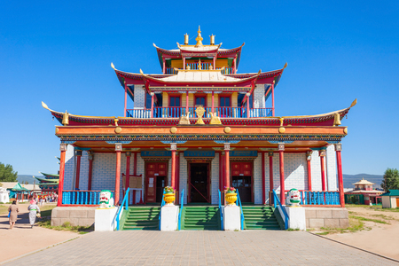 Ivolginsky datsan is the Buddhist Temple located near Ulan-Ude city in Buryatia, Russia