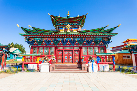 Etigel Khambin Palace at Ivolginsky datsan. It is the Buddhist Temple located near Ulan-Ude city in Buryatia, Russia.