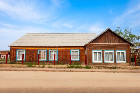 Museum of local lore in Khuzhir village near Baikal lake in Siberia, Russia Stock Photo