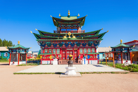 Ivolginsky datsan monastery is the Buddhist Temple located near Ulan-Ude city in Buryatia, Russia